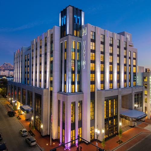 The hotel is located in the Arts and Warehouse District of New Orleans / Hilton