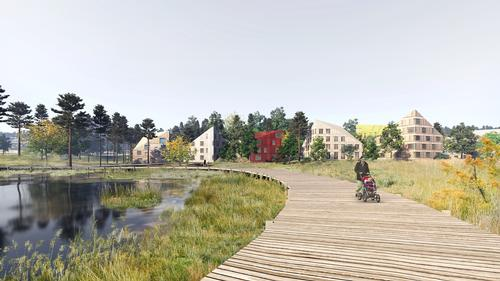 MAD first identified a site with forest surroundings / Mad Arkitekter