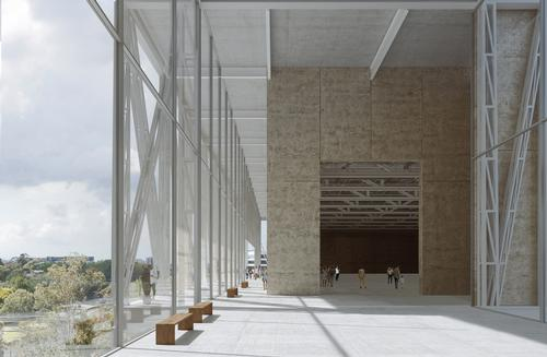 Connecting spaces within the building offer quiet places for reflection / Moreau Kusunoki / Genton