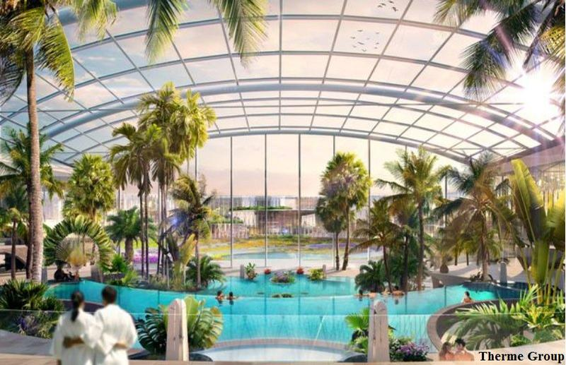 The resort will bring a tropical theme to the north west of England / Therme Group