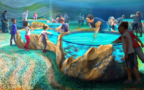 The aquarium covers 120,000 sq ft (11,148 sq m) / St. Louis Aquarium / PGAV Destinations