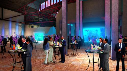 the aquarium has spaces for events and functions / St. Louis Aquarium / PGAV Destinations