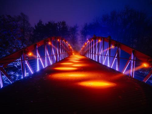 Bargebrug in Bruges / Kris Van De Sande
