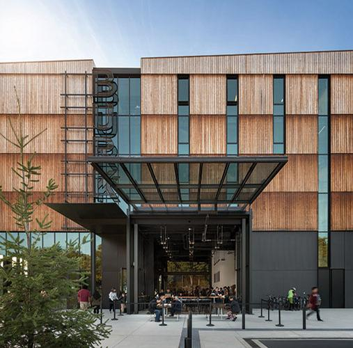 The museuem's Scots pine siding will silver with age / Olson Kundig / Aaron Leitz
