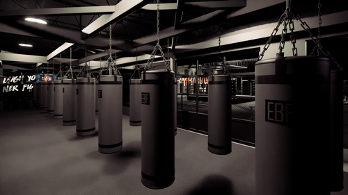 An open gym space will feature free weights, squat racks, functional equipment and treadmills / EverybodyFights