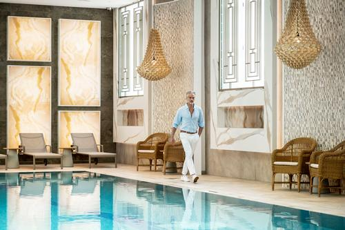 The pools are filled with local healing thermal waters and gently warmed using heated tiles