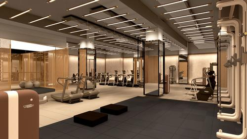 The fitness centre will have spaces for working out, hosting classes and semi-private training / Rockwell Group