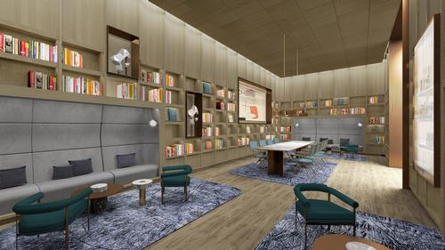Break-out rooms will double as spaces for relaxation when not in use / Rockwell Group