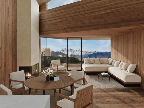 Each of the suites will be created almost exclusively from local materials / Forestis