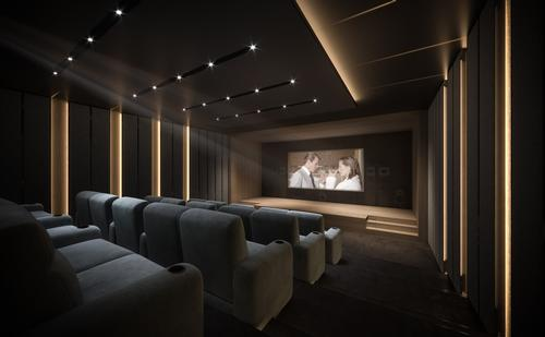 There is a 25-seat private cinema with a $350,000 (€315,000, £268,000) audio-visual system