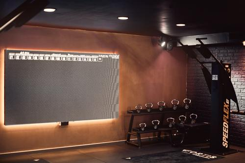 Data collected is relayed to a large video-wall at one end of the studio / Action PR