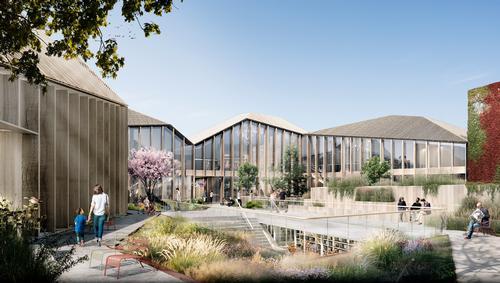 Movement of people through the Meierikvartalet will be encouraged via linked indoor and outdoor spaces / Schmidt Hammer Lassen