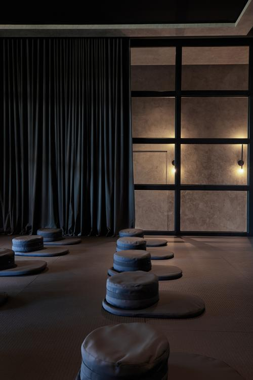 The centre's meditation room has been designed for solitude and reflection