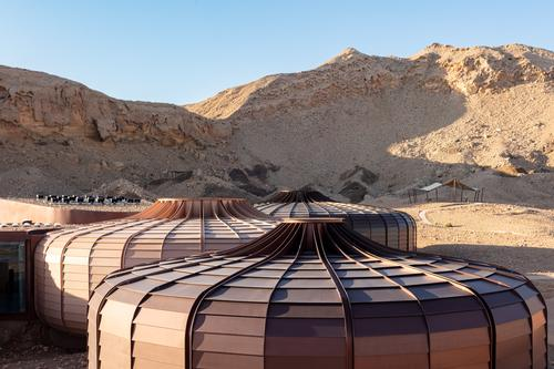 The pods are relatively small and were prefabricated off-site to minimise disruption to the existing fauna, geology and terrain / Marc Goodwin