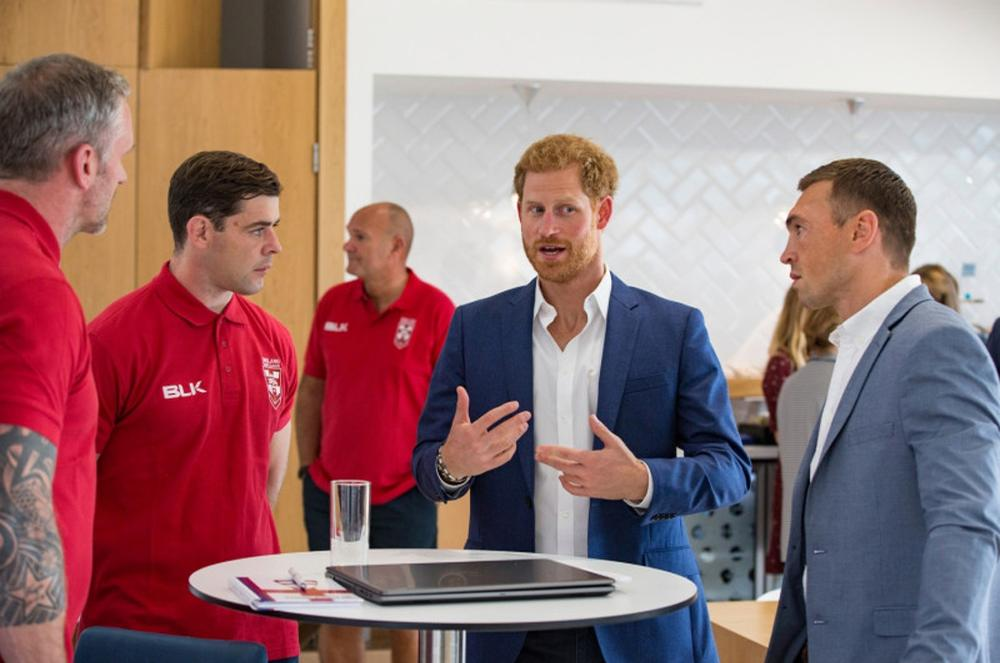Prince Harry with continue to work with the RFL despite plans to step back as a 'senior' member of the Royal Family / Rugby Football League