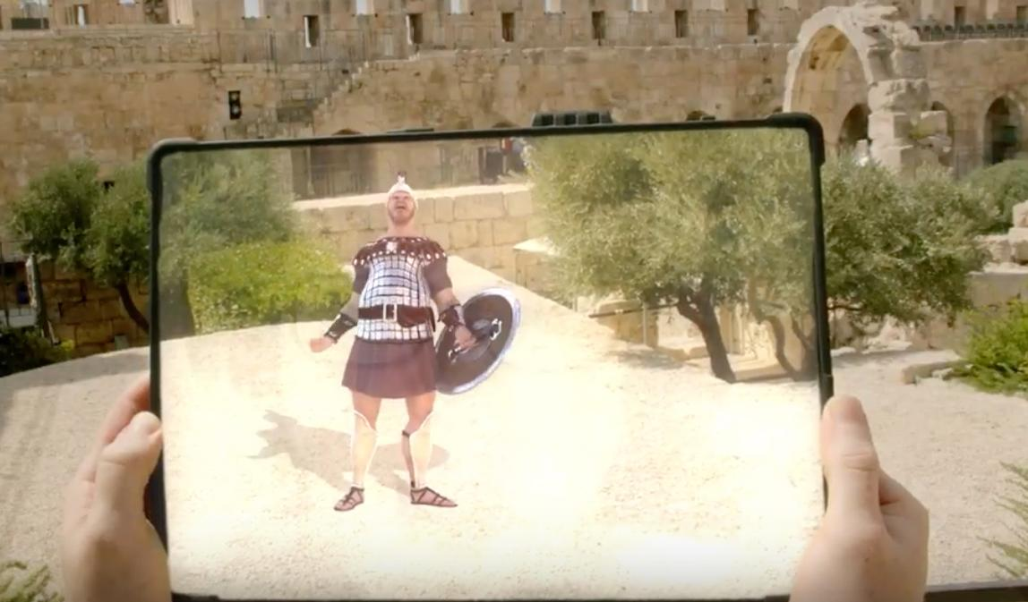 Visitors are provided with a tablet and earphones to access the experience / Tower of David – Museum of the History of Jerusalem