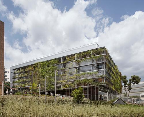 Outside, there is a garden used to support biodiversity in the area / Enric Duch