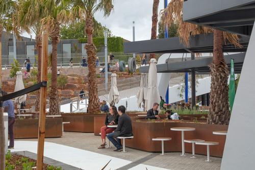 One parklet comprises a sensory garden with a garden café / John Gollings