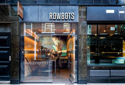 The 1675sq ft (156sq m) space is the first and flagship site for the Rowbots fitness brand / Jim Catlin Photography