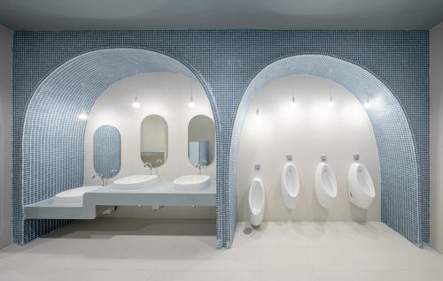 The design language is used in the toilets too / Ketsiree Wongwan