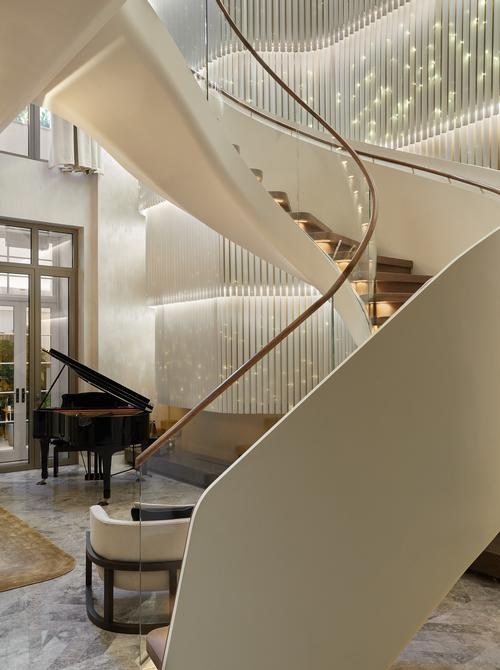 The interiors of the residences were designed by Jouin Manku / Clivedale London