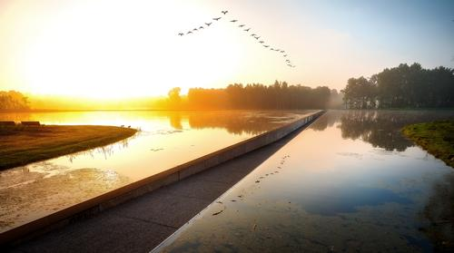 Cycling through Water was designed by Lens°ass architects / VisitLimburg.be