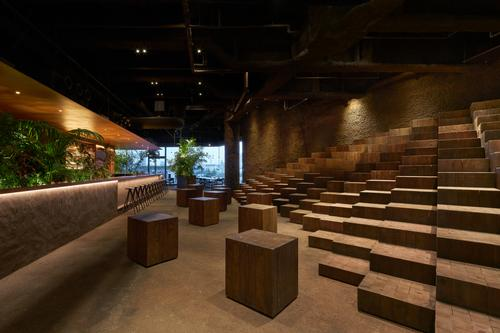 There is also an events space, which can be used for talks and discussions about food and environmental issues / Daici Ano
