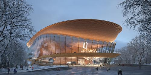 The theatre's flowing elliptical shape was conceived to echo the movement of dance and music / AtChain