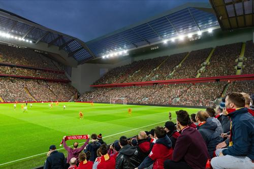 The proposed Anfield Road expansion will see the stadium's capacity increased by around 7,000 / Liverpool FC