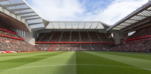 The expansion would see the overall capacity of Anfield increased to over 61,000 / Liverpool FC