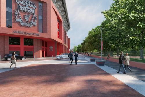 The surrounding public realm will need to accommodate both matchday activity and day-to-day use by the public / Liverpool FC