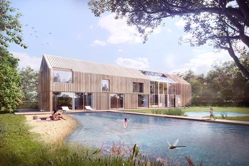 The pond helps to maintain a good microclimate in the house / BXBstudio Bogusław Barnaś