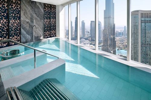 The spa also has a fitness centre, two further pools and a barber and beauty salon