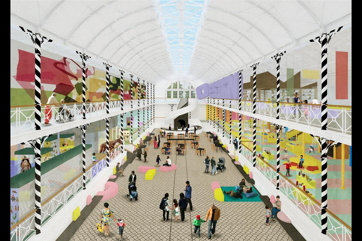 AOC's interior design aims to fill the museum with natural light and vibrant colour / V&A Museum of Childhood