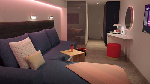 Insider cabins are for travellers who want to play all night and sleep all day / Virgin Voyages