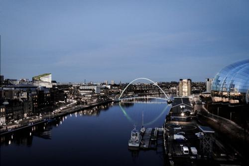 The building will be located close to the Sage and the Gateshead Millennium / Bjarke Ingels Group