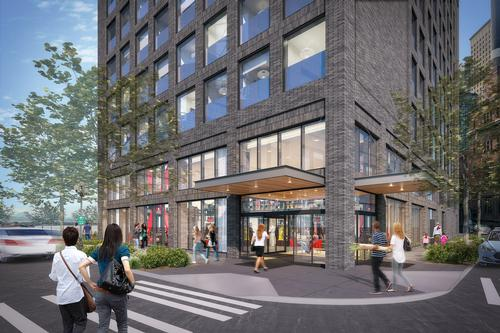 The building will be wrapped in a brick and glass façade that references the area's history / citizenM