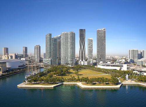 It is located opposite Museum Park in Miami / Hufton+Crow