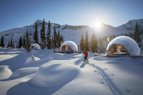 FUGU Hospitality has also installed bubbles in Méribel, Tignes, Courchevel and elsewhere