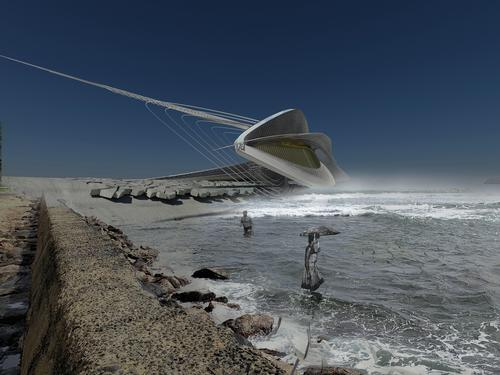 It is designed to harness the strong swell of the Black Sea in Sochi, Russia / Margot Krasojević