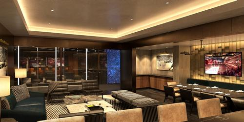 Tunnel Club suites will allow guests to watch players through a glass wall as they enter the playing area / Rockwell Group