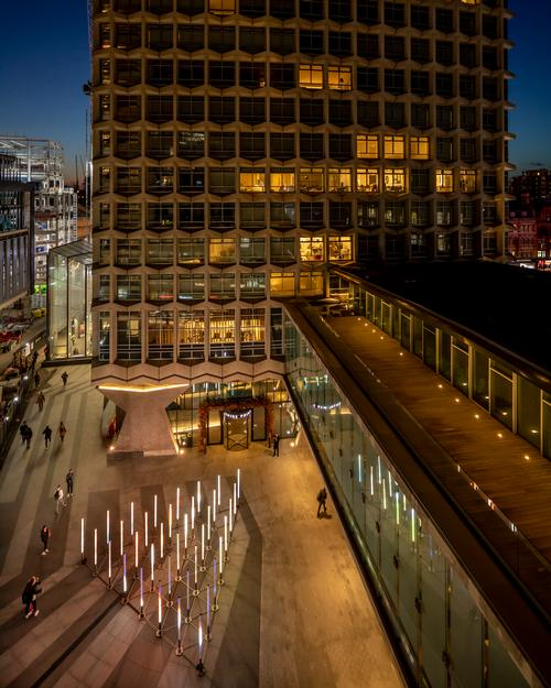 The artwork is located at the foot of London's Centre Point building / James Burns