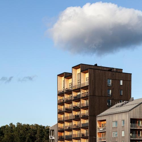 Constructing the building from wood is said to have saved around 550 tonnes (606 tons) of CO2 / Nikolaj Jakobsen