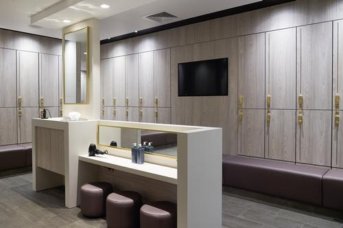 The changing facilities have been updated with marble-finished shower cubicles, gold-effect mirrors and private changing areas for individuals and families