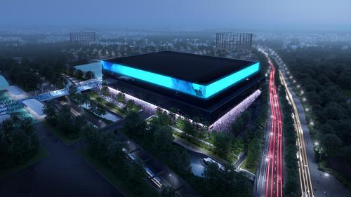 It will have a capacity of up to 23,500 and has been designed to host sporting and major awards events