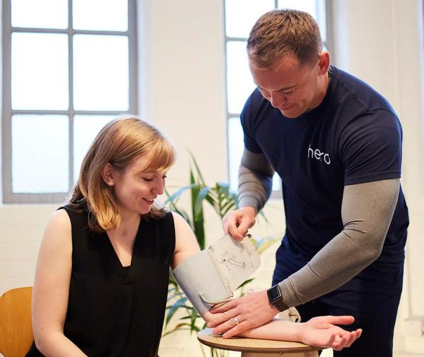 hero can provide biannual health checks for clients' staff