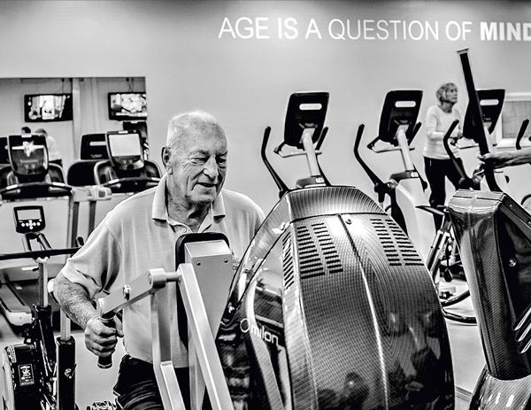 The majority of members at Wellington Health and Fitness Club are over 50 years old