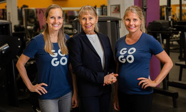 Co-founder and current CEO Taru Vähätalo (centre) with two of her three daughters Varpu (left) and Vuokko (right)