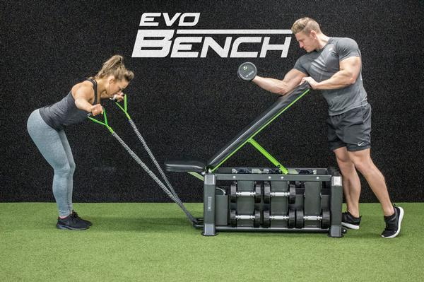 Evo Bench is ideal for use with personal training and small group sessions