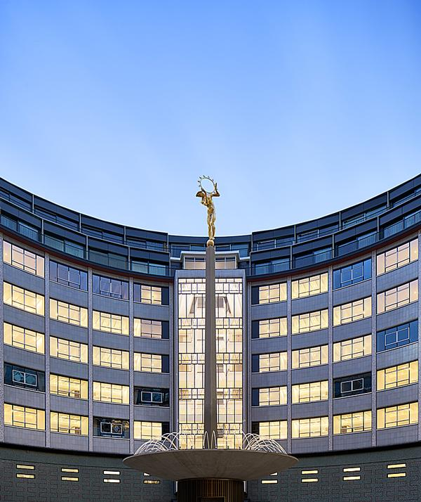 The circular Helios building housed the headquarters of BBC Television between 1960 and 2013. The building is Grade II listed